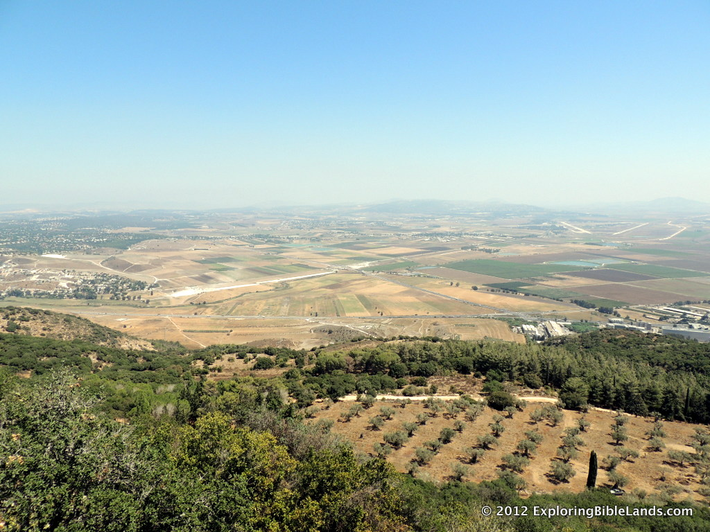 The Jezreel Valley from the top of Mount Carmel.