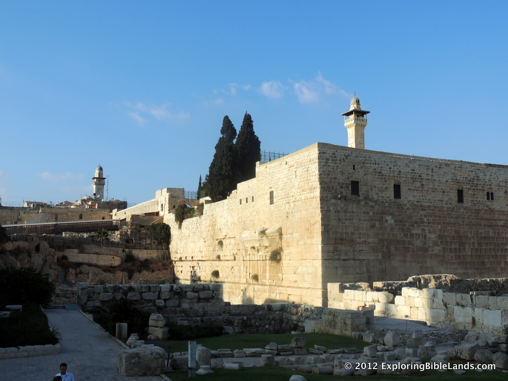 The southwest corner of the Temple Mount.
