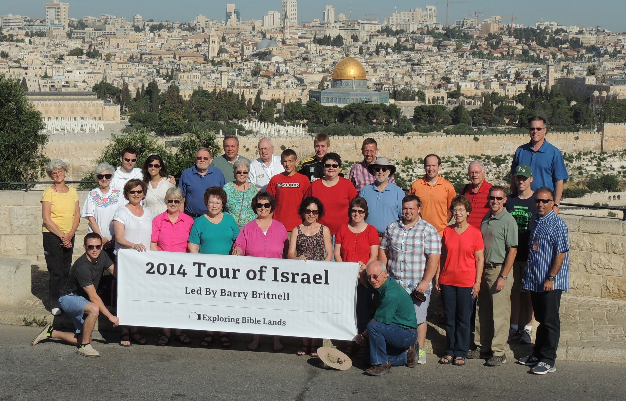 Our group standing on the Mount of Olives.