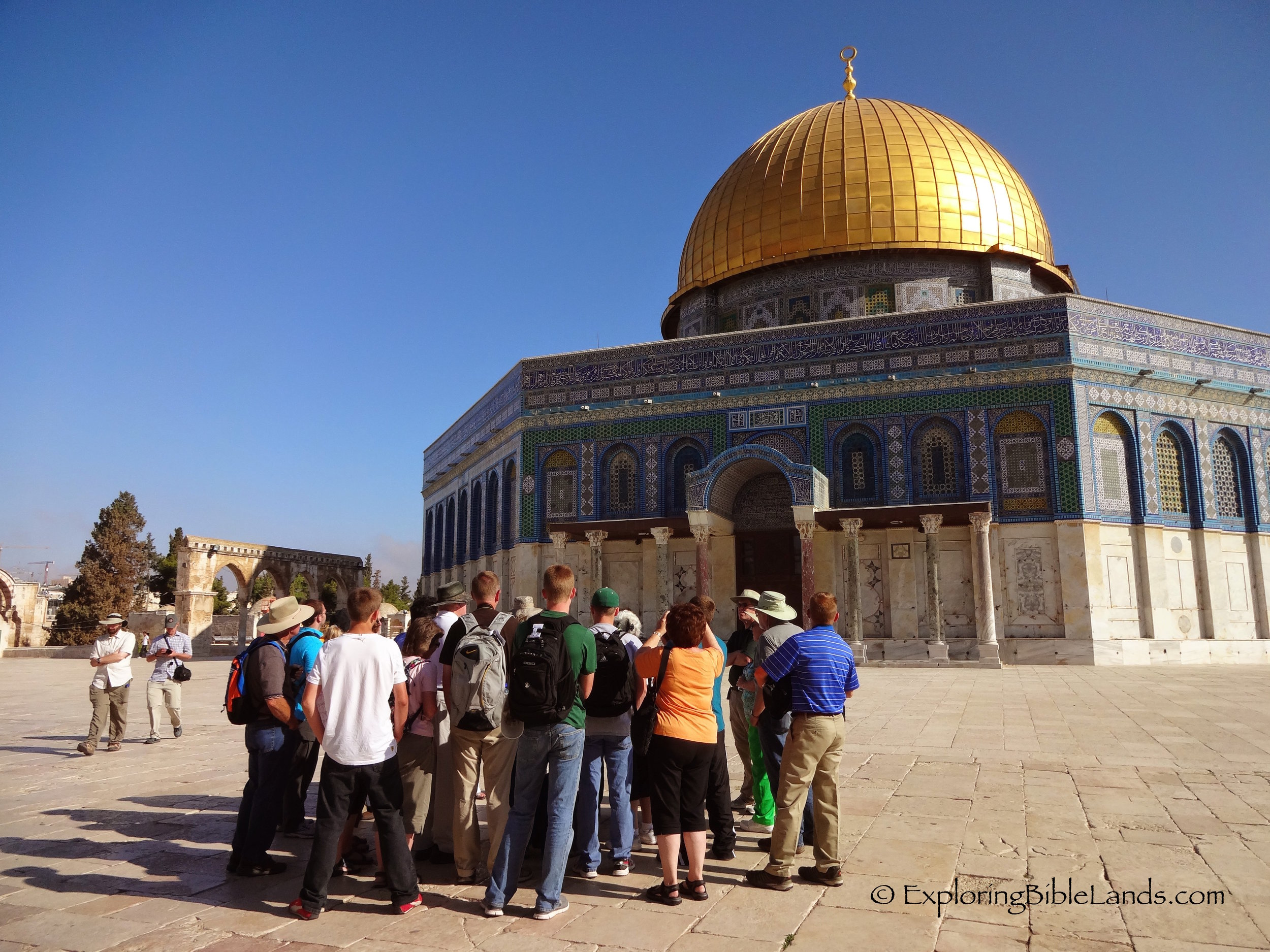 Our group in front of the Dome of the Rock.