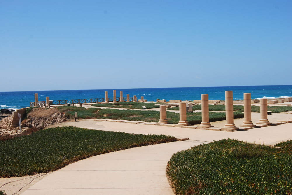 King Herod's palace at Caesarea Maritima.