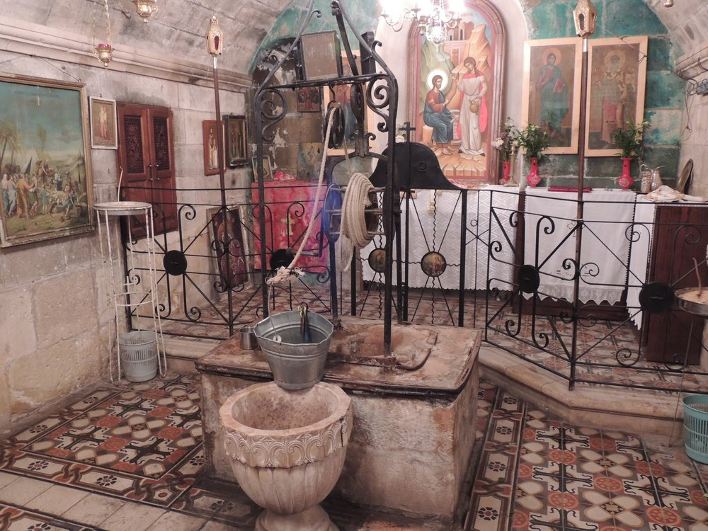 Jacob's Well, in the basement of the Bir Ya'qub monastery in Nablus.
