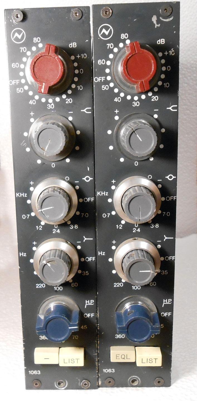Neve 1063 Channel Amplifiers