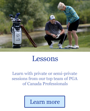 golf lessons from PGA Canada professionals