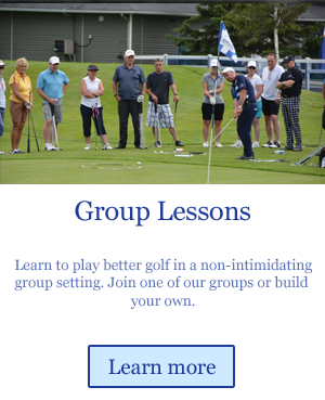 learn to play golf in a group golf lesson
