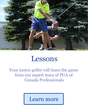 junior golf lessons from PGA of Canada Professionals