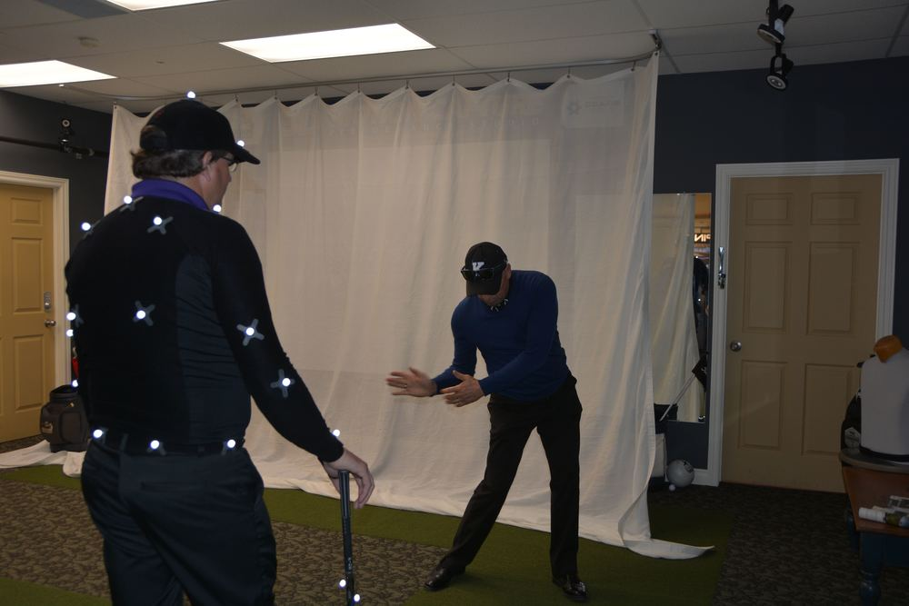 Kevin coaches a fellow professional in our GEARS 3D Motion Capture Studio.
