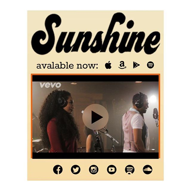 "So excited for my boss @ericbenet and his new single ""Sunshine"", available NOW on iTunes! Check out the video on Vevo & YouTube! ☀️ #EricBenet #Sunshine"