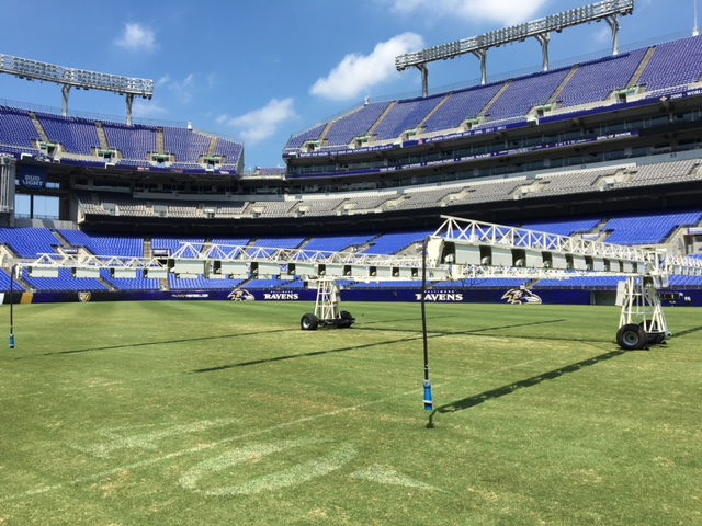 M&T Stadium Grass Growing Light System