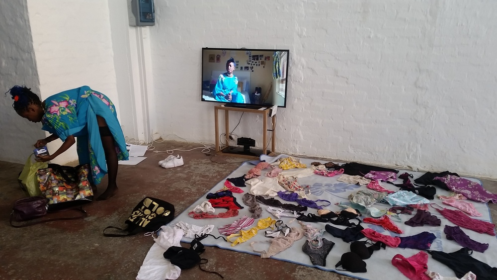Artist: Ulungile Magubane. Title: Don't cry for me. Medium: Video installation and performance. Emergency: Rape.