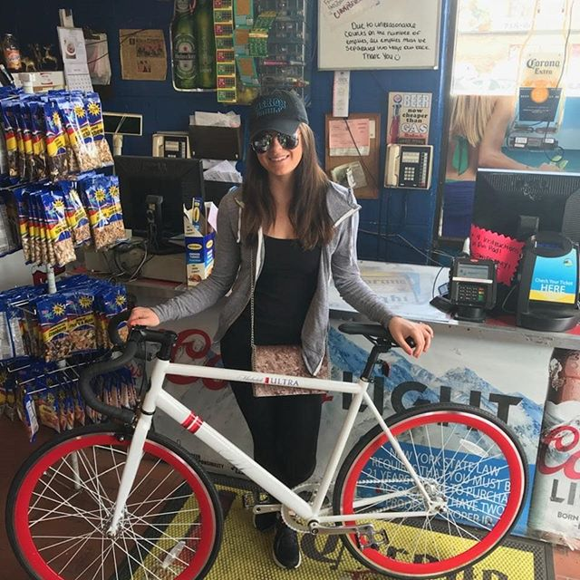 Congratulations to Marissa! She won the Michelob Ultra Bicycle Raffle.