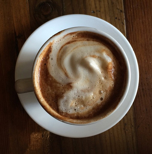 Roasted Maca Latte from Golden Mean Cafe in Santa Monica