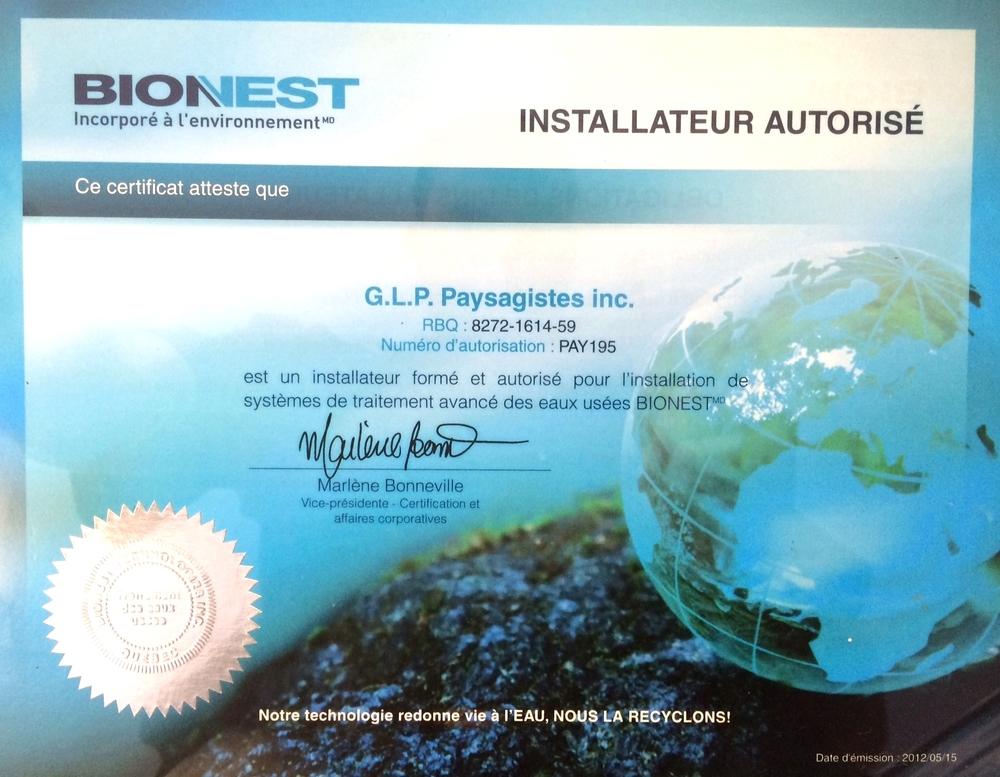 Installateur Bionest