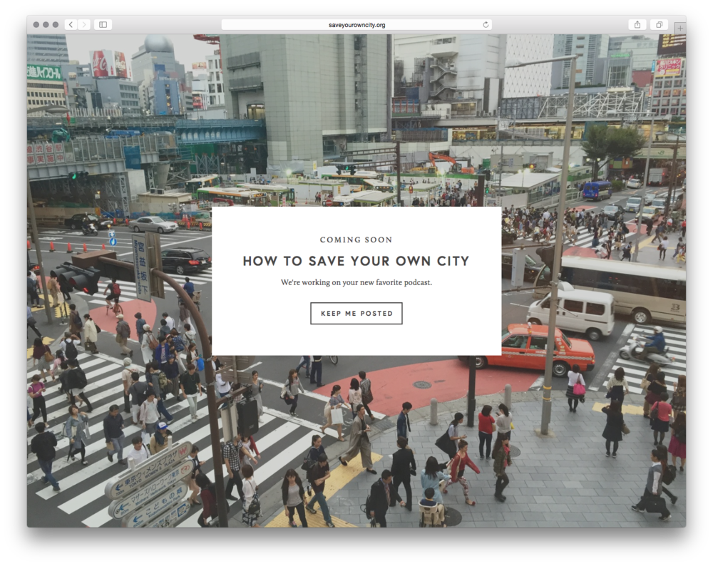 How To Save Your Own City, by Laurel Wamsley. Laurel hopes you will stay in the loop about a new podcast focused on how you can make positive change in your city.