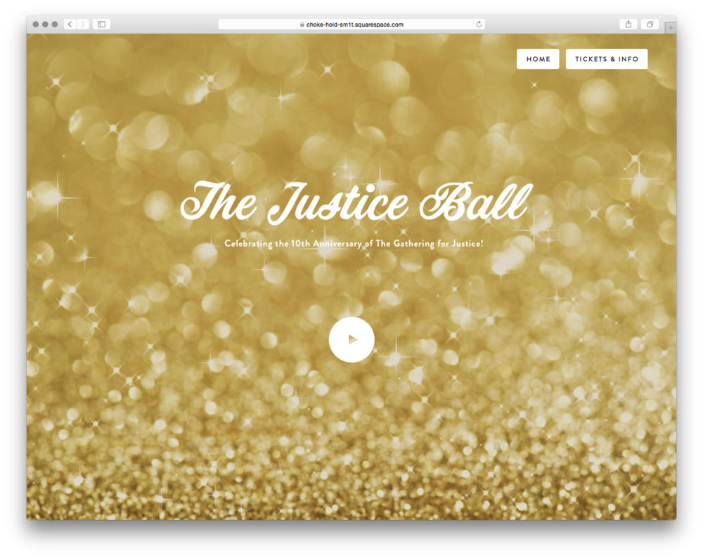 The Justice Ball, by Sally Rumble. Sally helps the Justice League NYC, a social justice organization, promote their annual fundraiser.
