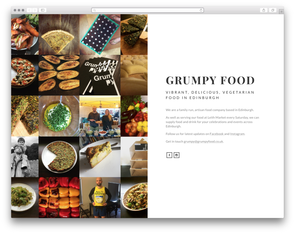 Grumpy Food, by Future Positive. Jakub & the team at Future Positive wanted to help one of their favorite local food market vendors take their business to the next level.