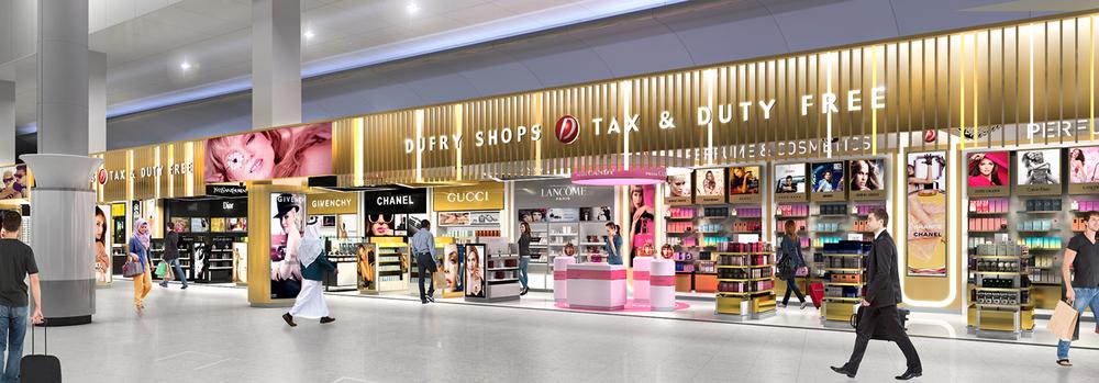 Propuesta para una tienda multimarca en el aeropuerto de Kuwait