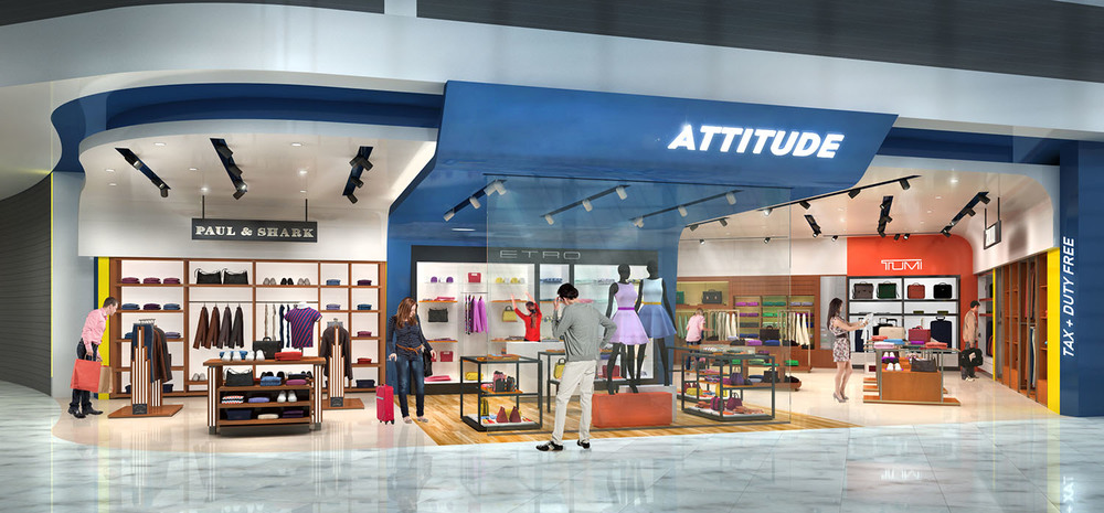 Tienda de moda Attitude para el aeropuerto de Niza