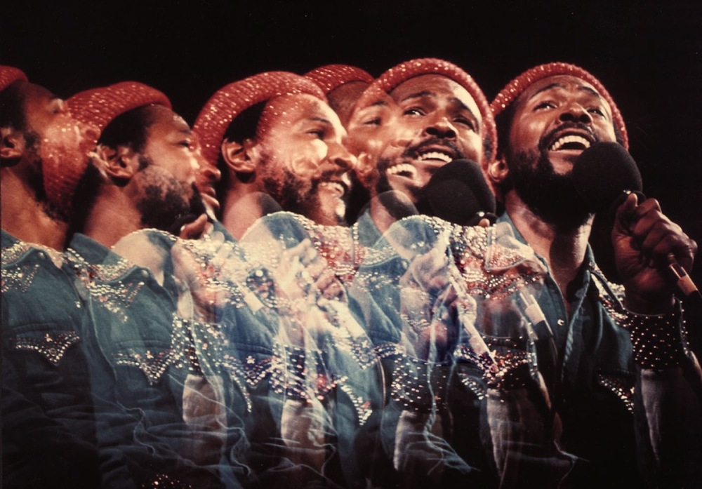 Marvin Gaye Live   circa 1970s                                                                                                                                                                                        Photography by Jim Britt