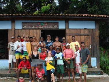 Pam in Itacare, Bahia, Brazil