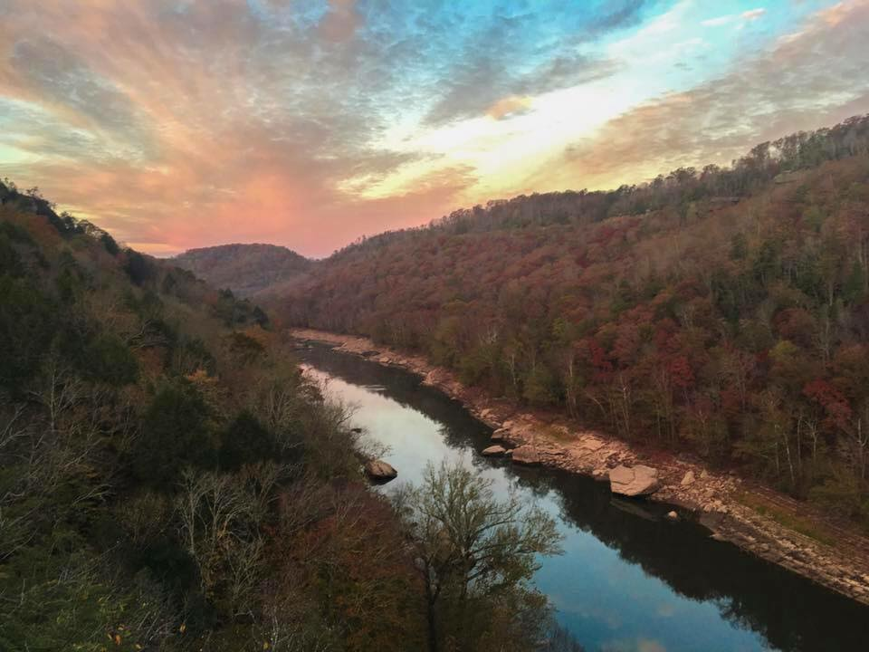 Sunrise over Big South Fork.  Photo by Shara Sumner