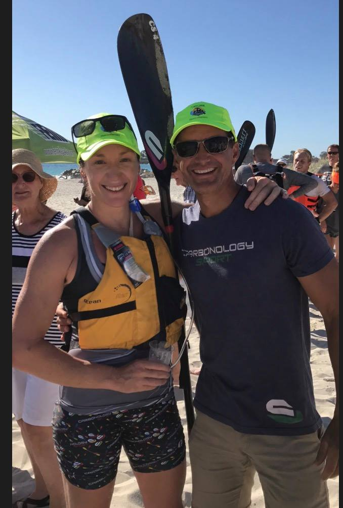 2016 World Surfski Series Champ, Hayley Nixon and Carbonology's Andy Ross