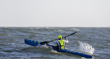 Nelo 560 in action. Not actual boat advertised. Contact Erik for pictures of his boat