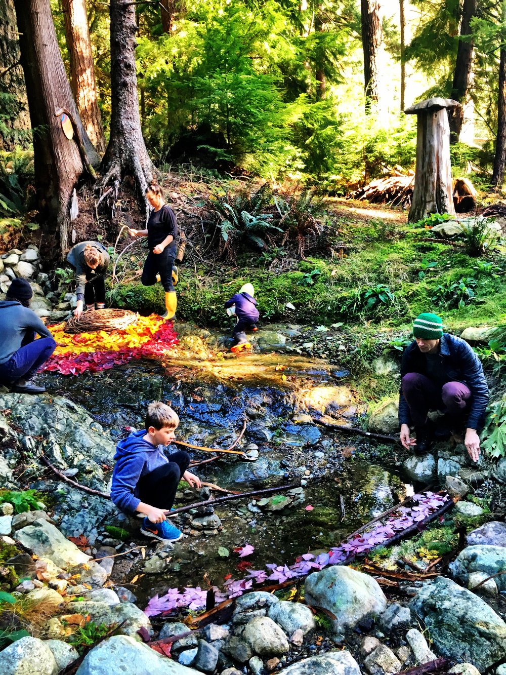 The impermanence of things: Creating nature based art as a group.