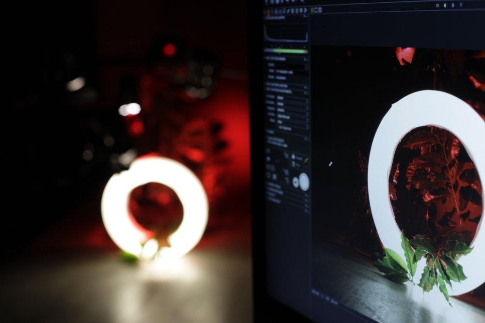 *Objetos e luminária em mockup para testes.