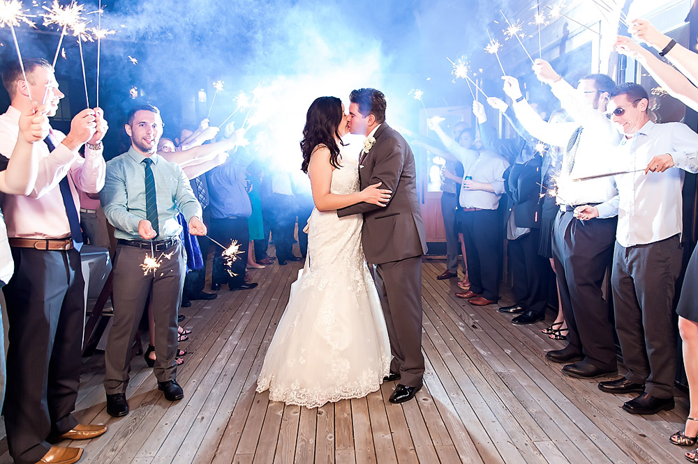Sparkler sent off at Lonestar Court -Austin Wedding Photography by the Honest Hue