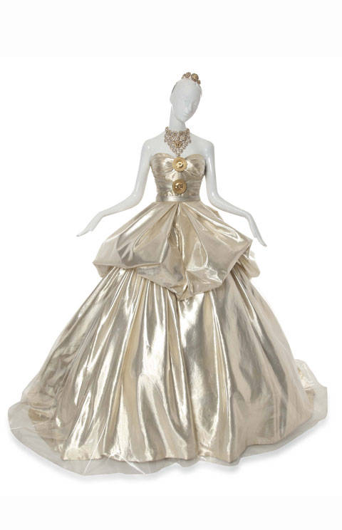 CINDERELLA, A VERSACE GOWN OF GOLD SILK