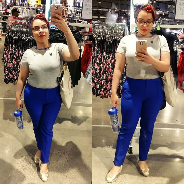 #OOTD: Next level house rep in these incredibly blue pants. #ravenclawpride #ravenclawesome #primarkusa #primania