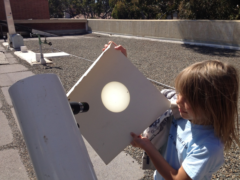 Getting the kids involved during the Venus transit.