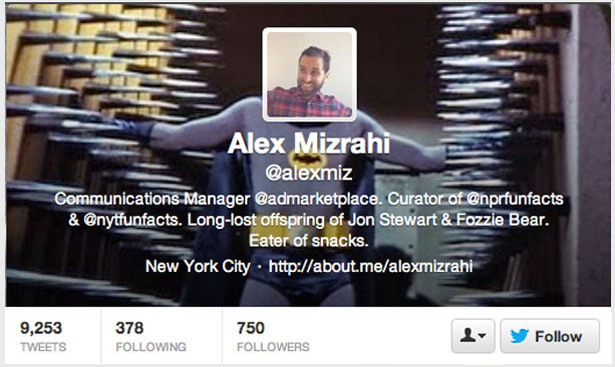 Mashable (Sept. 18, 2012):  10 Twitter Header Images Done Right ; I came in second, directly ahead of Ryan Seacrest