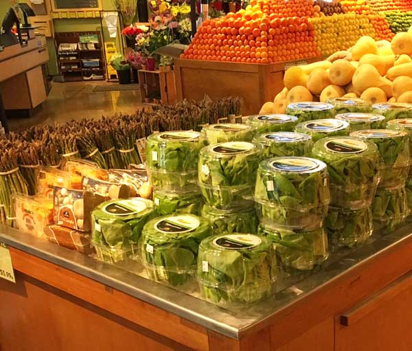Pescadero Growers' lettuce displayed at a local grocery store.