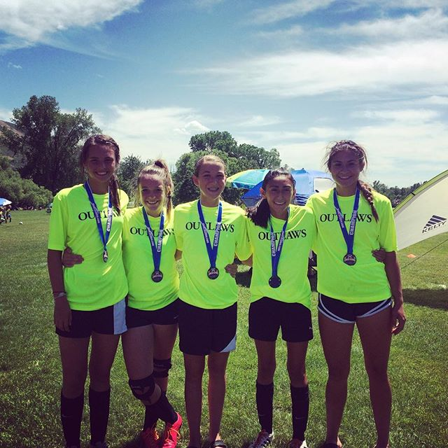 Outlaws '02 Girls taking 1st place at Ogden 3V3Live #outlawsfc