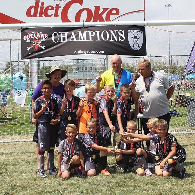 Congrats to our U10 OutlawsFC boys team for bringing home the Cup in the gold bracket!