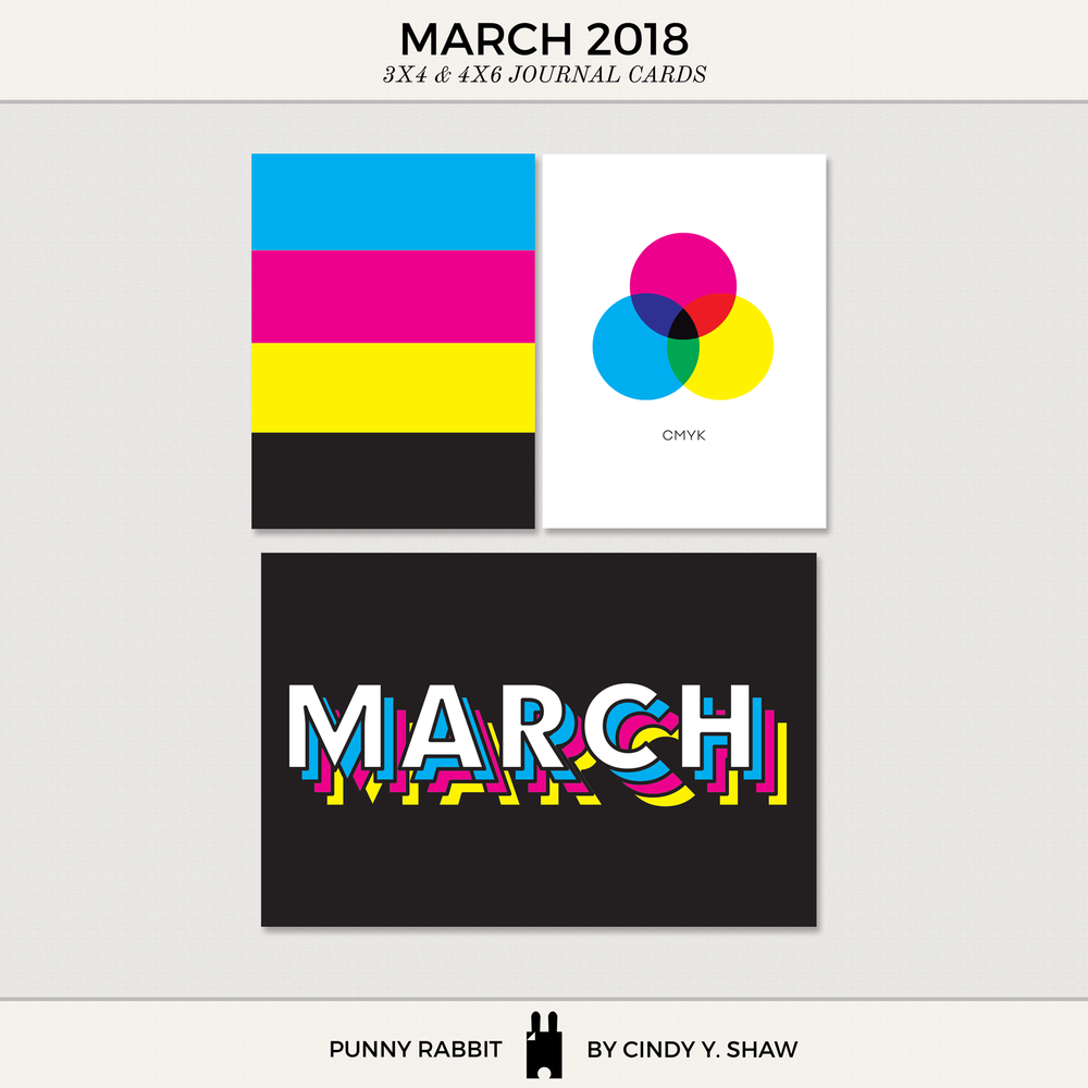FREEBIE: 3X4 PROJECT LIFE CARDS - March 2018
