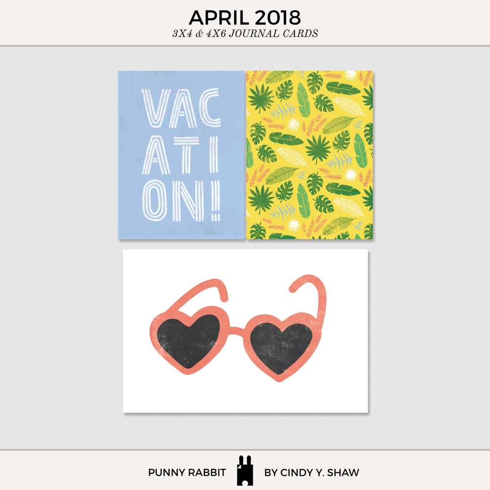 FREEBIE: 3X4 PROJECT LIFE CARDS - April 2018