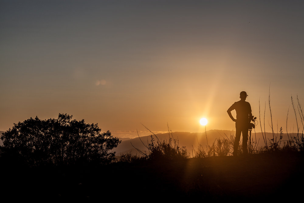 Sunset, Temecula, California. Filmmaker Henry Corra