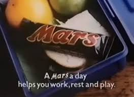 Don't bother with the apple, just have the Mars bar...