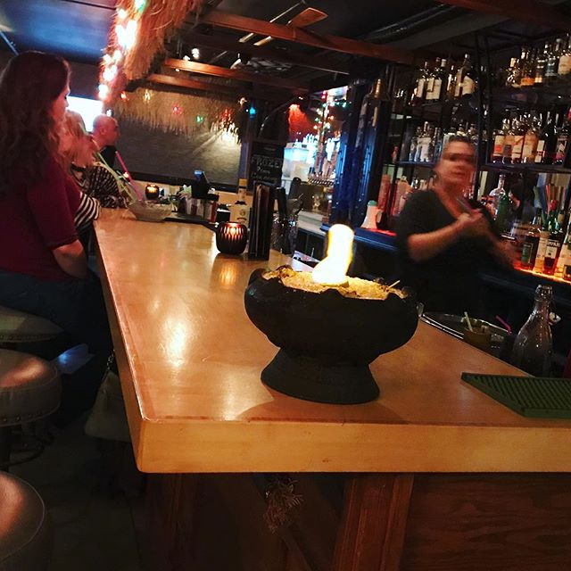 Saturdays are lit at Rhum 🔥🔥🔥 . . . #portlandmaine #tikiaf #tikidrinks #scorpionbowl #getlit #saturdayvibes