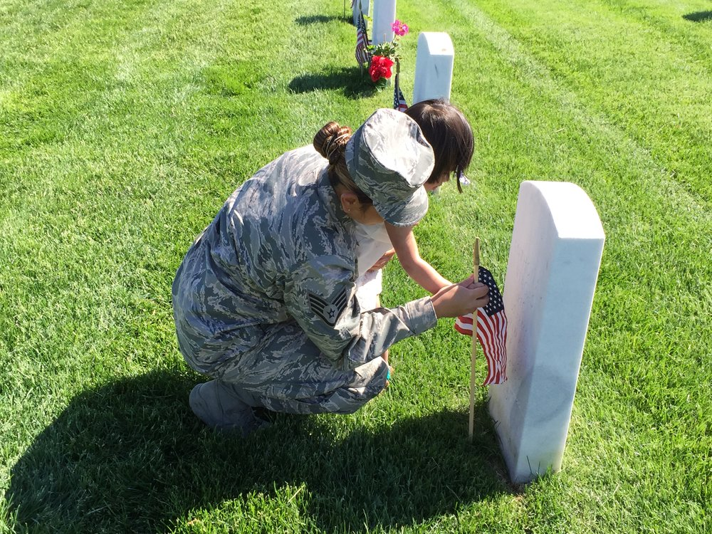 Memorial Day Grave Decoration
