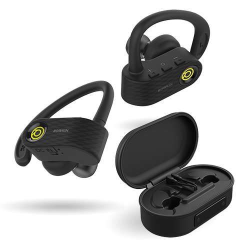 surge+charge, bit stereo, rowkin, moving forward, the world smallest earbuds, true wireless earphones, headphones