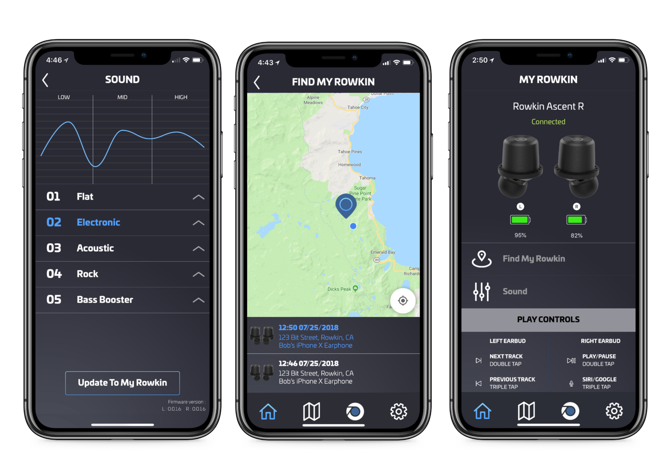 """20. Rowkin App - Rowkin has its own companion app for newer generation true wireless earbuds(Ascent, Bit Charge Touch, Micro Touch, and PACE). Music is the ultimate motivating tool for working out, studying, or commuting. Customize your sound profile to your exact listening preferences, check your battery life, and get convenient access to our Quick Start Guide page should you need to troubleshoot your device. The best feature is the """"Find My Earbuds"""" feature, synonymous with the """"Find My iPhone"""" feature. If you lose an earbud, you can easily locate where it was last turned on."""