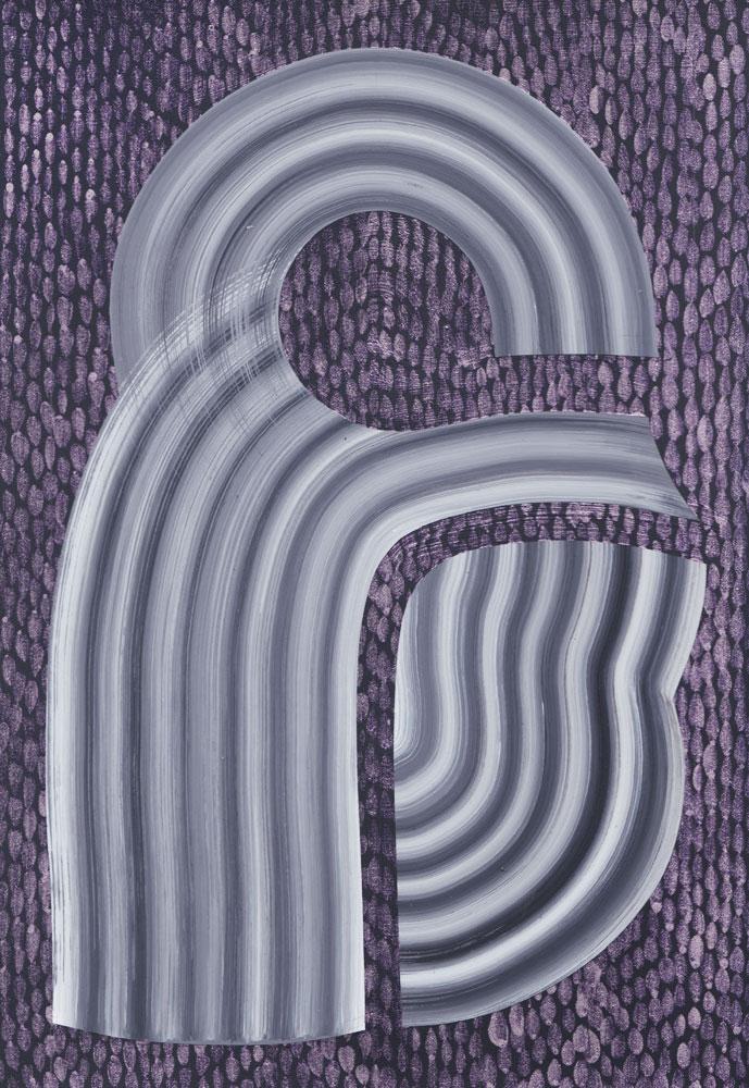 "Acrylic on paper  10"" x 7"""