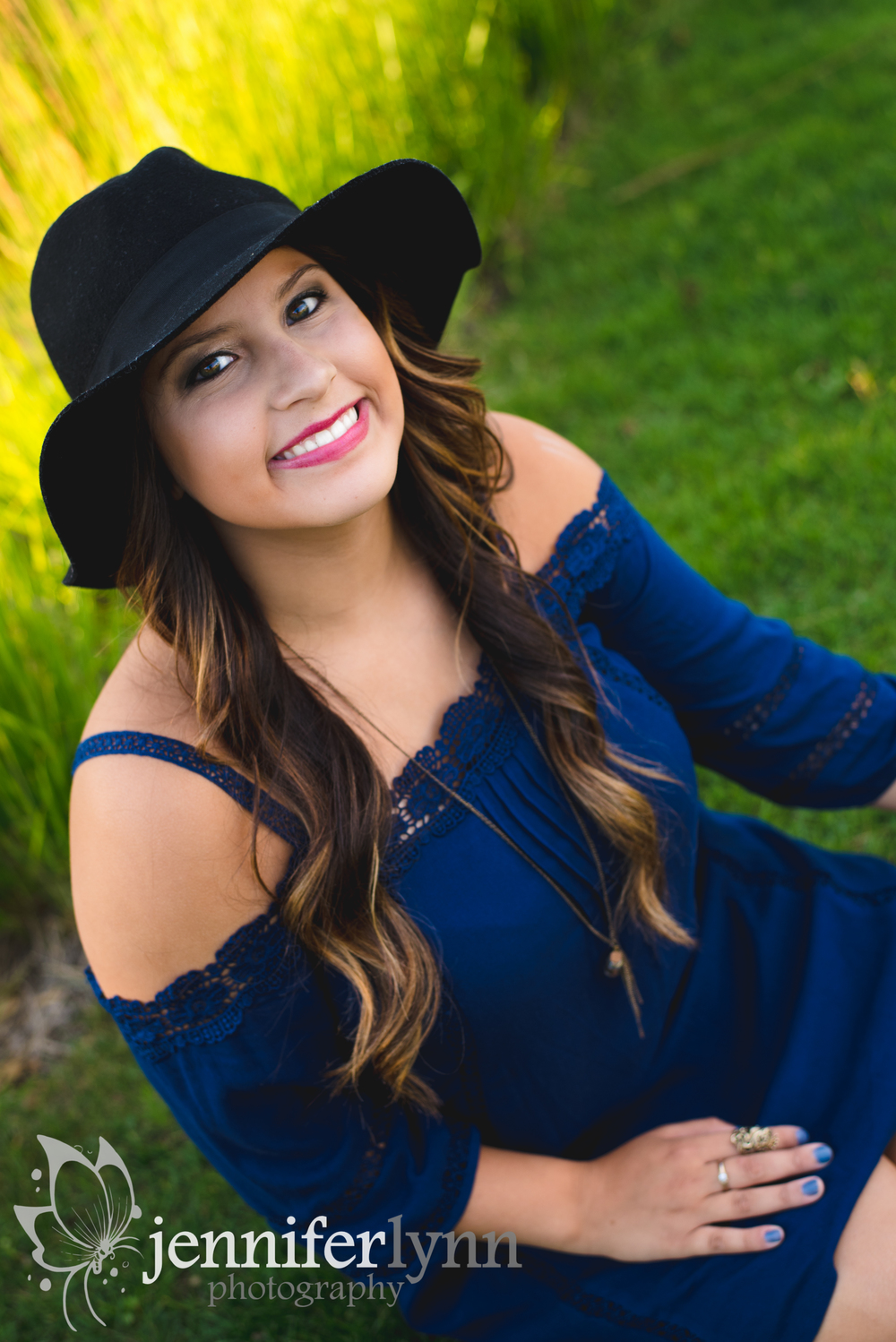 Senior Girl Color Portrait Hat