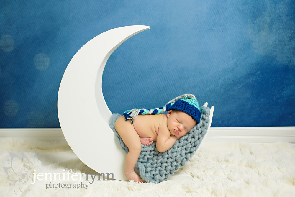 Newborn Boy On Moon