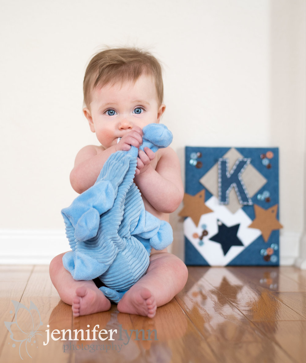 Baby Sitter Naked Holding Stuffed Animal