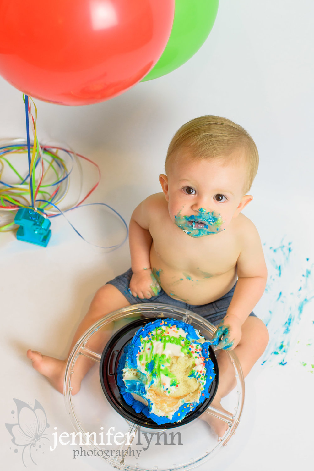 Baby Boy Cake Smash Colors